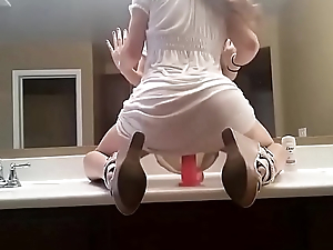 Riding My Dildo On The Bathroom Counter