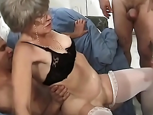 Roasting granny Kathy Jones knows pretty well how to handle gang bang