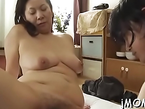 Stunning older chick plays with water on her gorgeous body