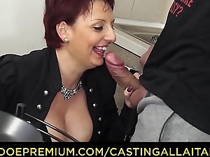 CASTING ALLA ITALIANA - Mature redhead riding big cock in her artful porn scene