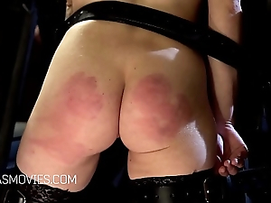 Blonde slave shaking with excitement
