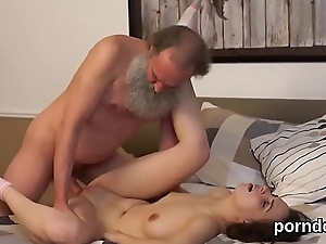Sensual schoolgirl gets seduced and penetrated at the end of one's tether aged schoolteacher