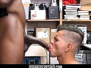 Undeceiving Latino Boy With A Huge Cock Denunciatory Shoplifting Fucked At the end of one's tether Black Gay Security Officer