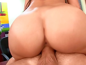 Doggy style fucking slim slut Miley Ann with huge tits gets a big jizz load