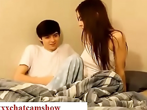 Brother seduces his sleepy sister while sleeping in bedroom taboo
