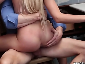 Zoey Clarks shoplyfters pussy fuck so hard on top of the LP Officers notorious cock.