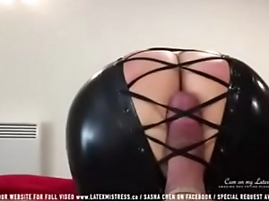 Black latex mistress tease cock - 424cams.net