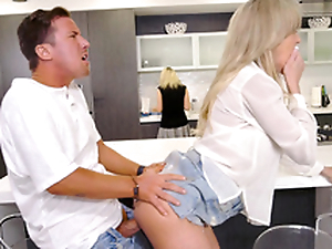 Mom does not notice son bonking her friend Brandi Love