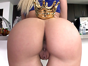 Astounding Anikka Albrite in blue top crowns awesome brim-full with the kitchen