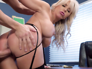 Nina Elle - The boss' Naughty wife gets reams of jizz served in her cunt