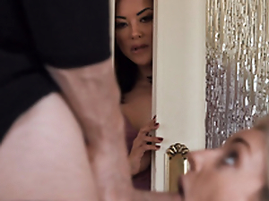 MILF Kaylani Lei teaches Stepdaughter to Suck Cock