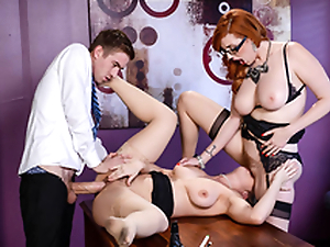 Busty Lena Paul & Lauren Phillips Lesbi scene - Obese Tits at Work