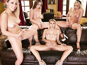 Lena Paul & Zoey Monroe & Luna Star in the  Girlsway 4Way Lesbian Squirt Fest!
