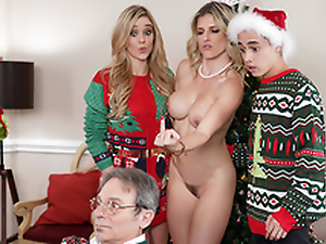 Keep The Xmas Lights Tied On - Mommy Cory Chase In the porn scene