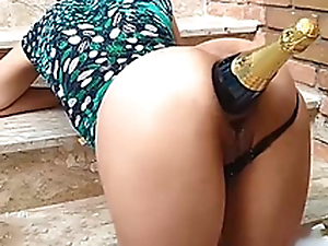 Ass Destruction With Champagne Bottle / Fucking the brush whore