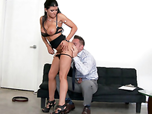 Dazzling MILF Romi Rain undresses so man could worship her XXX body