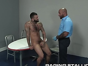 Hairy Black TSA Daddy Does Energetic Body Search On Morose Latino Dear boy