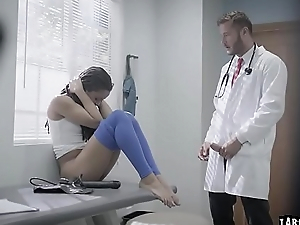 Kira had will not hear of check up with horny doctor