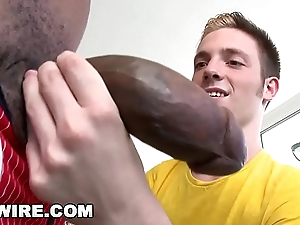 GAYWIRE - Twink Jesse Jordin Gets His Tight Ass WRECKED By Castro Supreme'_s Obese Black Dick