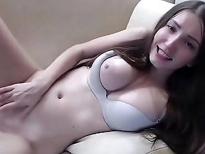 Teen brunette masturbates with vibrator in her ass &mdash_ more videos on girls-cam.site