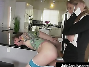 Femdom Milf Julia Ann Pegs Young Old crumpet Toy In his tiny Asshole